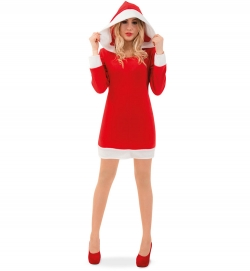 Nikolaus Kleid Nikoline mit Kapuze Weihnachtskleid