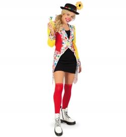 Frack Knöpfchen Damen Clown