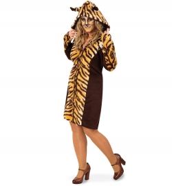 Tiger Kleid mit Kapuze Tierkostüm