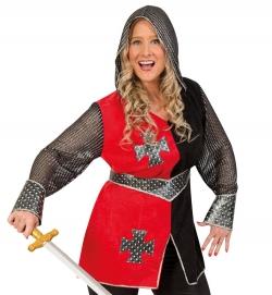 Ritterin Jeanne, Oberteil mit Kapuze und Gürtel