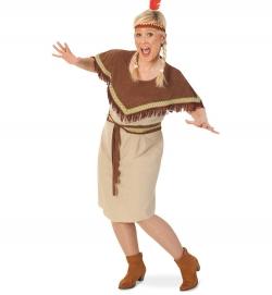 Indianerin Sikari, Kleid mit Gürtel