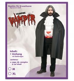 Vampir Umhang mit Stehkragen