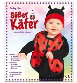 Baby Set Käfer, Lätzchen + Mütze PB Größe 86