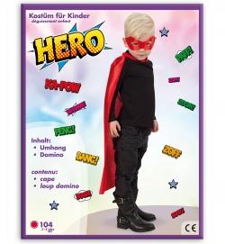 Red Hero Umhang mit Maske rot Größe 104-116