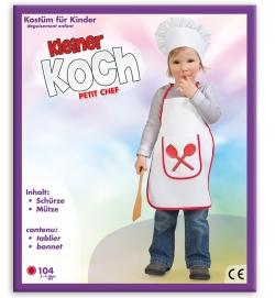 Kleiner Koch,  Schürze mit Mütze, PB, Größe 104