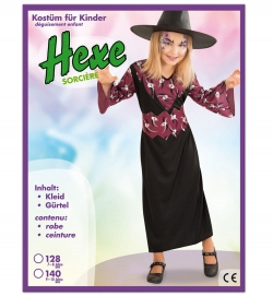 Hexe lang, Kleid mit Gürtel