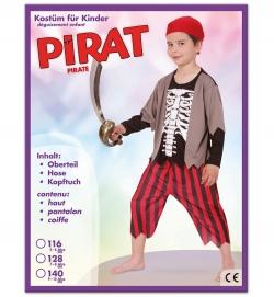 Pirat, Oberteil, Hose + Kopftuch