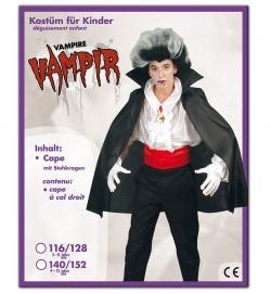 Vampir Umhang Dracula mit Stehkragen für Kinder