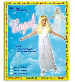 Engel Kleid mit Flügeln + Kopfschmuck