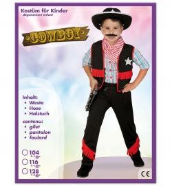 Cowboy Westernkostüm, Weste, Hose + Halstuch