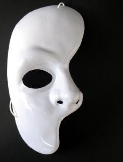 Neutralmaske Theatermaske Phantom Halbmaske zum Bemalen