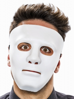 Phantom Herrenmaske weiß