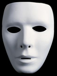 Neutralmaske Theatermaske zum Bemalen Form breit - männlich