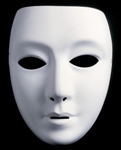 Neutralmaske Theatermaske zum Bemalen Form breit - weiblich