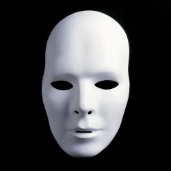 Neutralmaske Theatermaske zum Bemalen lang - männlich