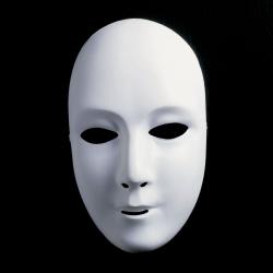 Neutralmaske Theatermaske zum Bemalen lang - weiblich