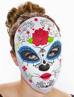 Textil-Maske Tag der Toten, weiblich