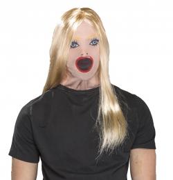 Porno-Star, Textilmaske mit Haar