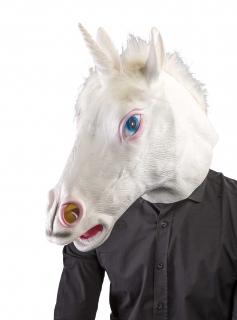 Latexmaske  Einhorn Tiermaske