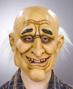 Latexmaske alter Mann