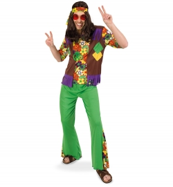 Hippie 2-tlg. Oberteil, Hose und Stirnband