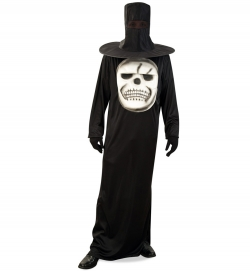 Big Skull, Halloweenkostüm 1-tlg. mit Hutmaske, Größe Uni