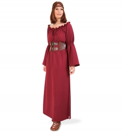 Kriemhild Mittelalterkleid mit Gürtel historisches Gewand