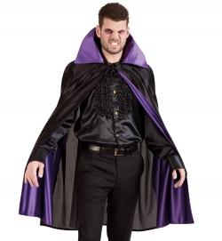 Vampir Umhang mit Stehkragen, schwarz-lila , Größe Uni