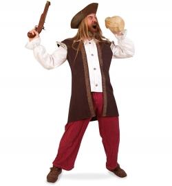 Pirat Seeräuber Freibeuter Kostüm Oberteil