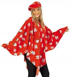 Poncho Köln rot, Uni-Kostüm Größe Uni