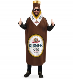 Kirner Bierflasche, Uni-Kostüm Größe Uni