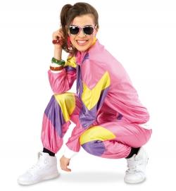 Jogging-Anzug Retro 80er Trainingsanzug Damen