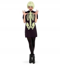 Skelett Kleid nachtleuchtend
