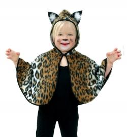 Cape Umhang Katze mit Kapuze für Kinder