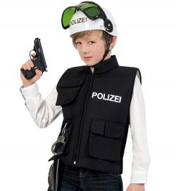 Polizei-Einsatzweste, schwarz (seitl. Klettverschluss)
