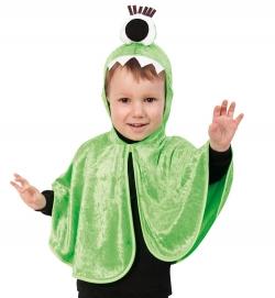 Monstercape Grün, mit Kapuze, Größe 98-104