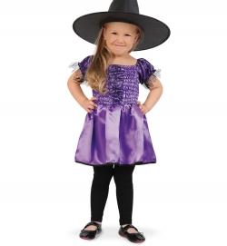 Hexe Kleid lila für Mädchen