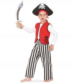 Pirat Kinder Kostüm 2-tlg. Weste + Hose