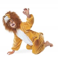 Löwe Tierkostüm Overall mit Kapuze