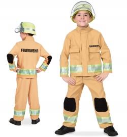 Feuerwehrmann Uniform sandgelb Jacke und Hose