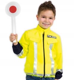 Polizei Jacke Kinder neongelb Spieljacke Uniform