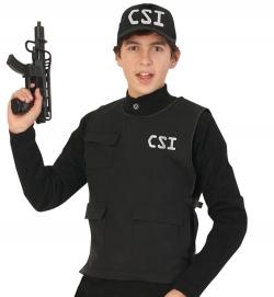 CSI-Weste, schwarz (seitl. Klettverschluss)
