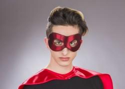 Stoff-Augenmaske unterfüttert, rot