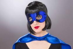 Stoff-Augenmaske unterfüttert, blau