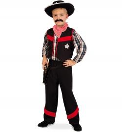 Cowboy Kostüm schwarz/rot Ranger Sheriff Western