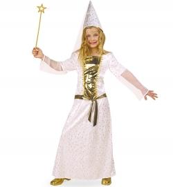 Fee, Burgfräulein, Engel Kostüm weiß/gold für Kinder