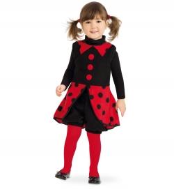 Mariechen Junikäfer, Kleid + Pumphose Kinder Kostüm