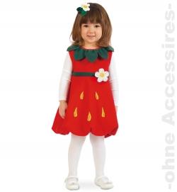 Erdbeere Emily Strawberry, Kleid + Haarreif Kinder Kostüm