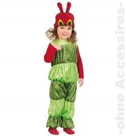 Kleine Raupe, Overall + Mütze Kinder Kostüm