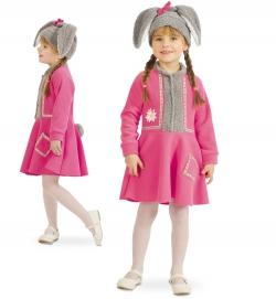 Hase Lotti, Kleid mit Tasche + Mütze Kinder Kostüm
